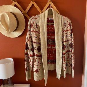 ROXY Knitted Aztec Print Cardigan
